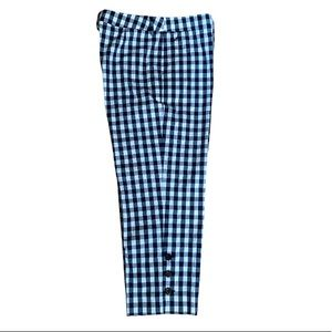 Navy Gingham Ankle Pants By Per Se    10